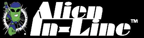 Alien In-Line Full Logo White