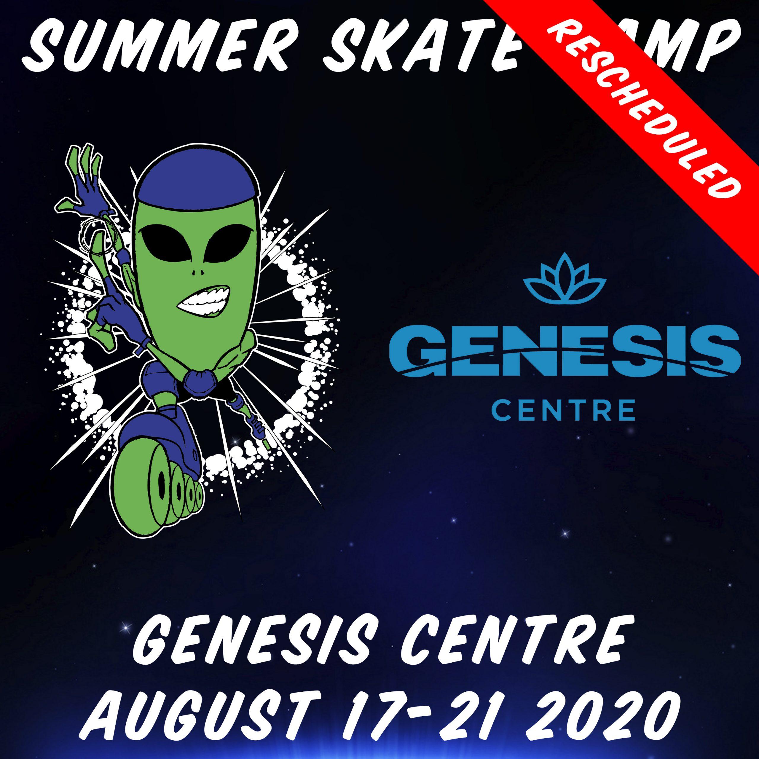 Alien In-Line 2020 NE Summer Skate Camp Poster