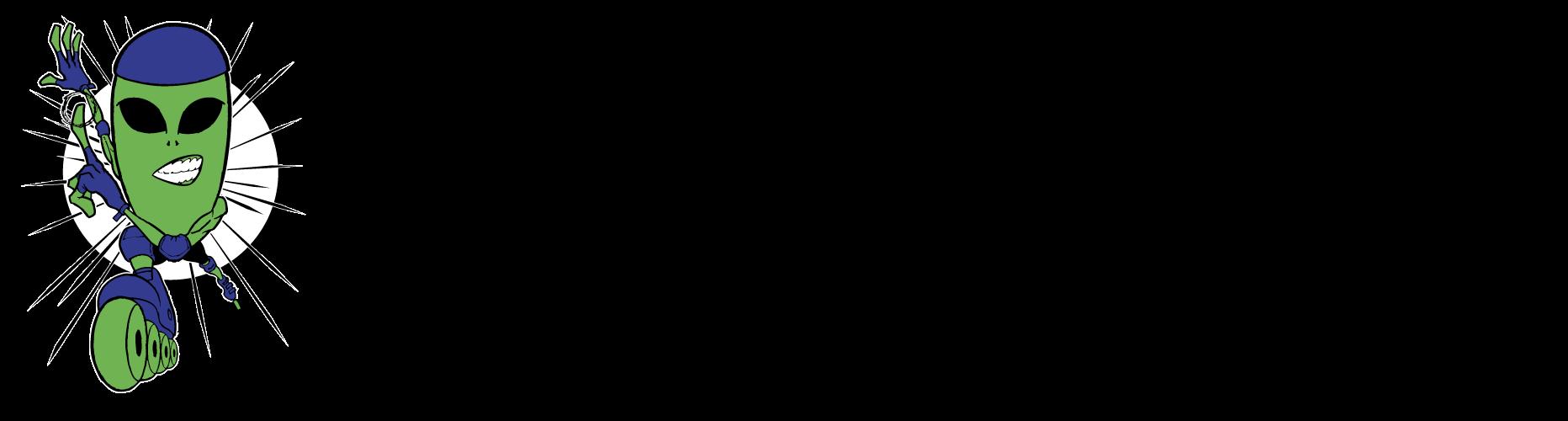 Alien In-Line Full Logo Black